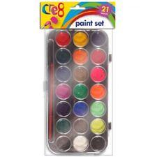 21 Water Colour Paint Set Brush Painting Art Craft Kids Children Watercolours