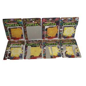 TEENAGE MUTANT NINJA TURTLES lot of 8 action figure cardback card back TMNT 80s