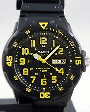 Reloj Nuevo Casio MRW-200H-9BV Hombres Análoga 100m WR Día Fecha Resina