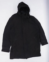 Next Mens Size L Cotton Blend Grey Hooded Coat