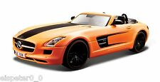 Mercedes-Benz SLS AMG Roadster mate naranja, Maisto Custom Shop 1:24