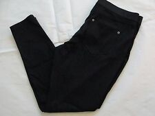 NWT $44 Hue Women Metallic Super Smooth Denim Skimmer Leggings Sz S Black