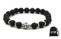 Bracciale Pietra Lavica collana Mala Tibetano Buddha anello Uomo Donna Unisex