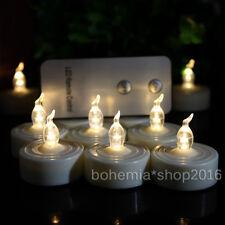 12Stk. LED Teelichter Flammenlos mit Fernbedienung Party Weihnacht  Kerzen