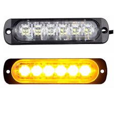 12V 6LED Flash Light Bar Car Emergency Warning Strobe Light Beacon Hazard Amber
