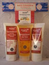 GIFT SET SANDALWOOD FACE CREAM+FACE WASH+MASK+1 SOAP+NAG CHAMPA INCENSE=5 ITEMS