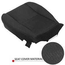 DRIVER Bottom Cloth Seat Cover BLACK For 07-14 Chevy Silverado 1500 Replacement