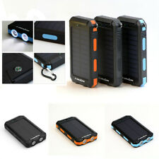 300000mAh Waterproof Solar Power Bank 2USB Battery Portable Charger for Phone UK