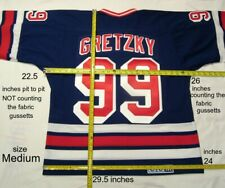 WAYNE GRETZKY size MEDIUM - New York Rangers CCM Vintage Heroes Of Hockey Jersey