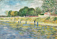 Bank of the Seine by Vincent van Gogh A1 High Quality Art Print