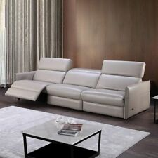 Living Room Sofas Chairs Home Furnitures 3-Seater Leather Reclining Modern Couch