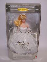 Wedding Day Caucasian Blonde Barbie Doll Dressed for Special Day Mattel 1996