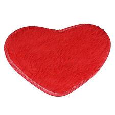 Non-slip Bath Mats Coral Fleece Heart Kitchen Bathroom Door Floor Rug Decor UA