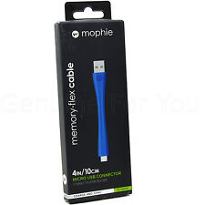 Mophie Memory Flex 10CM Micro USB Data Sync Charge Cable For Smartphones Tablets