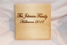 Wood Sign Plaque or Cutting Board Birch Personalized Laser Engraved Halloween