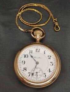 ANTIQUE 1913 HAMILTON  POCKET WATCH 21j,16S, GR 992 GOLD WHEEL/FILLED CASE WORKS