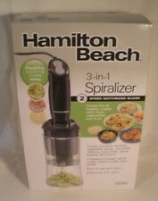 Hamilton Beach 3 in 1 Spiralizer Fruit & Vegetable 2 Speed Electric Motorized