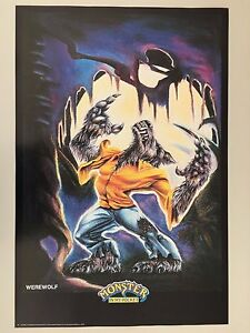 MONSTER IN MY POCKET,WEREWOLF,MEGA RARE AUTHENTIC 1991 POSTERS