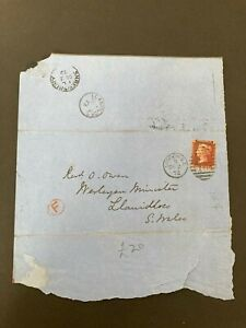 Postal History GB QV 1872 Llanidloes CDS Parish Return 1d Red Plate144 Cat £25