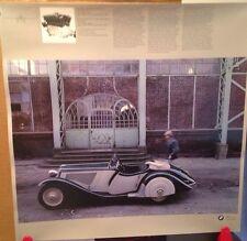 BMW 351/1 Roadster 1935-1936 BMW Ag Original RARE!! Car Poster!