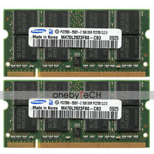 Samsung 2GB (2X1GB) PC2700S DDR 333 200 PIN CL2.5 SODIMM Laptop Notebook Memory