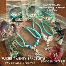 Pack de 20 bracelet breloque mix kits 10mm crystal beads fabrication de bijoux enfants parties