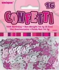 Pink Glitz Age 16 Birthday Table Confetti 14 Gram Packet 16th Party Decorations