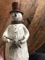 """Flurryville Collection BLIZZARD BOB 8.5"""" Figurine Snowman Top Hat Star Scarf"""