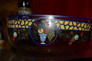 coupe cristal émaillée Art Déco signé sèvres