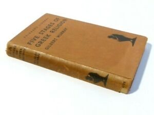 1935 Five Stages of Greek Religion Gilbert Murray Hardback Book