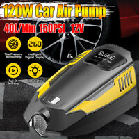 12V Digital Tyre Inflator Portable Car Pump Air Compressor With LED Light
