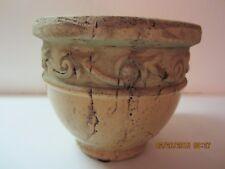 "Decorative Earthenware Architectural Style Art Vase 5.5"" Tall-Heavy-Unique!!!"