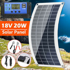 20W Solar Panel 18 Volt Trickle Battery Charger 30A Controller for Car Van Boat