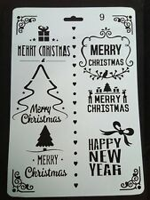 Merry Christmas Stencil Card Making Scrapbooking Airbrush Painting Home Deco Art