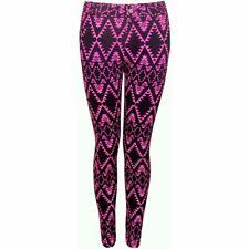 Motel Rocks Jordan Skinny Jeans Neon Pink Black Aztec Print Size M