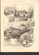 1892 ANTIQUE PRINT- SOMERSBY, THE BIRTHPLACE OF LORD TENNYSON
