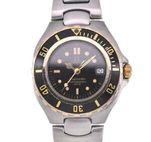 OMEGA Seamaster Professional 200m black Dial Quartz Ladies Watch H#102748
