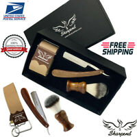 Shaving & Grooming Set | 3 Edge Razors & SilverTip Badger Brush | Men's Kit Gift