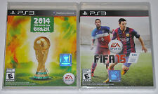 PS3 Game Lot - EA Sports FIFA 15 (New) 2014 FIFA World Cup Brazil (New) Soccer