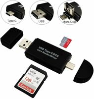 Micro USB to USB C 2.0 Memory Multi-Functional Card Reader for SDXC SDHC SD