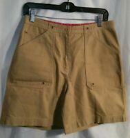 Lauren Ralph Lauren Women's Beige Shorts Cotton Flat Front Size 8