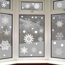 37 pc /lot Snowflake Window Vinyl Clings Christmas Stickers Reusable Decorations