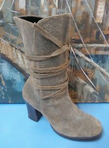Newport News Leather Boots Women's Size 7B Booties Block Style 1179