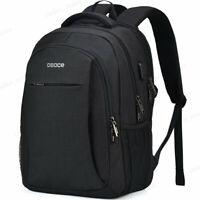 Black Gray Men Women Outdoor Travel Bag Backpack Waterproof School Laptop Bag
