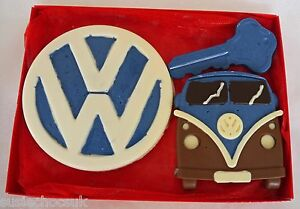 Hand-made Belgian Chocolate Campervan with VW badge Gift Box