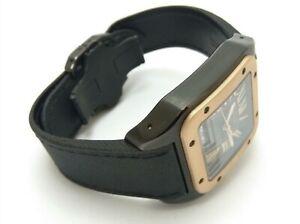 Cartier Santos Men's Black Watch - W2020009
