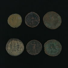 Ancient Coins Roman Artifacts Figural Mixed Lot of 6 B6311