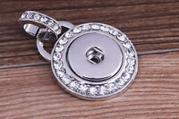 hot alloy Pendant lock necklace Fit snap chunk button without Chain j2298