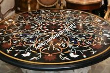 "36"" Round Marble Dining Table Top Collectible Marquetry Inlay Home Decor E634(1)"