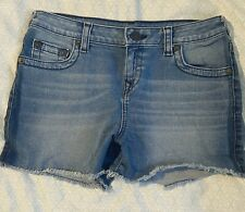girls true religion size 16 denim jean shorts